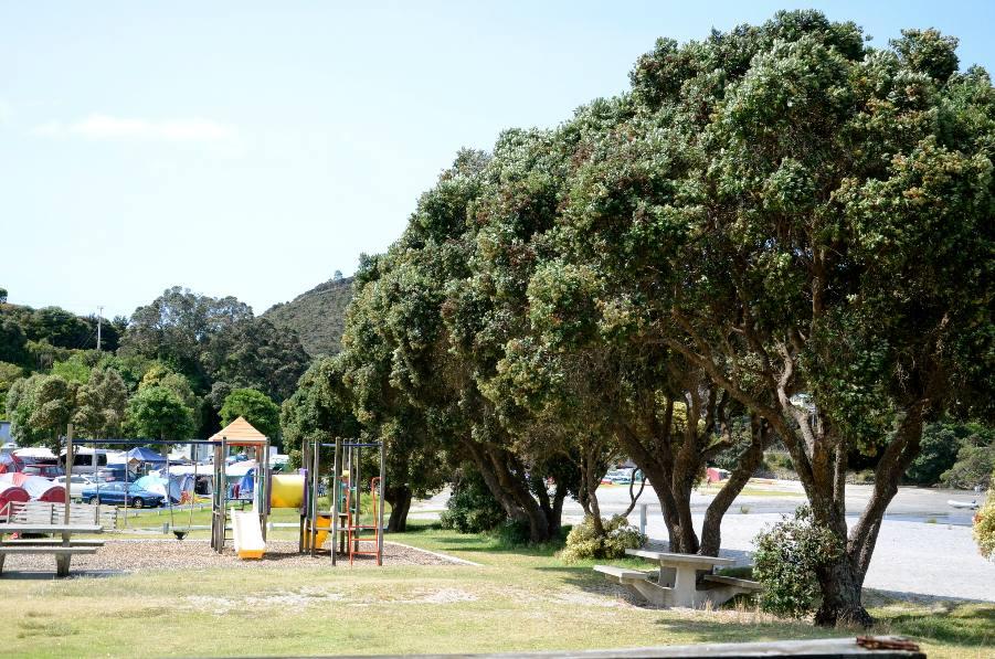 Children's playground on north side.